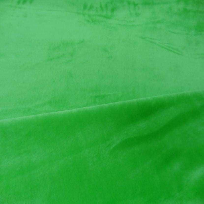 Polaire double face doudou toucher pilou vert anis 4