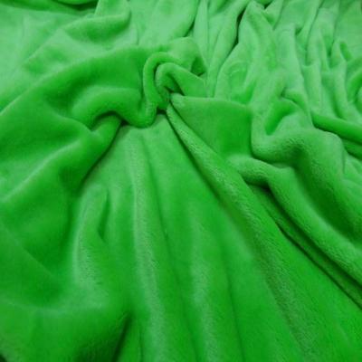 Polaire double face doudou toucher pilou vert anis