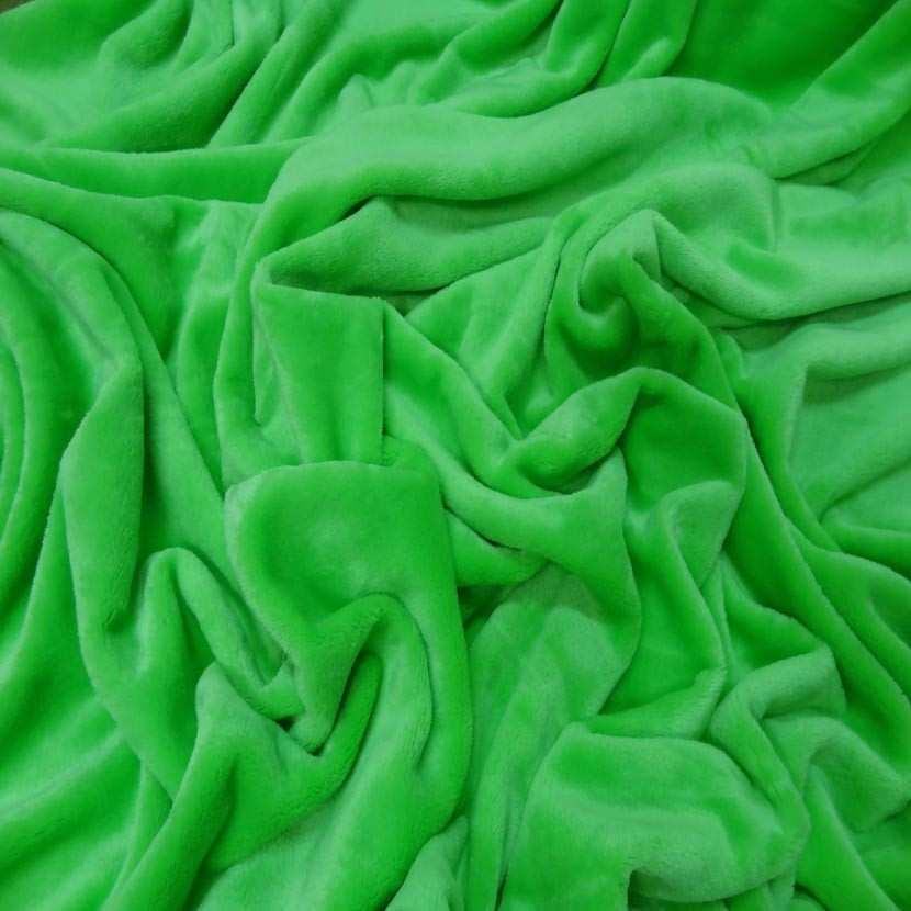 Polaire double face doudou toucher pilou vert anis4