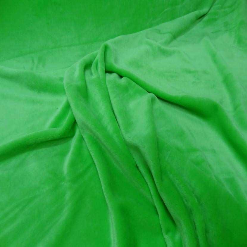 Polaire double face doudou toucher pilou vert anis6