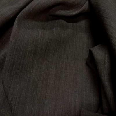 Polyester lin viscose marron