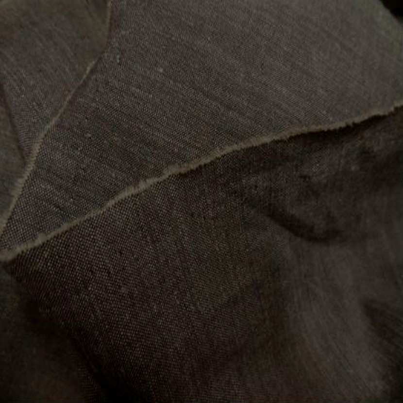 Polyester lin viscose marron3