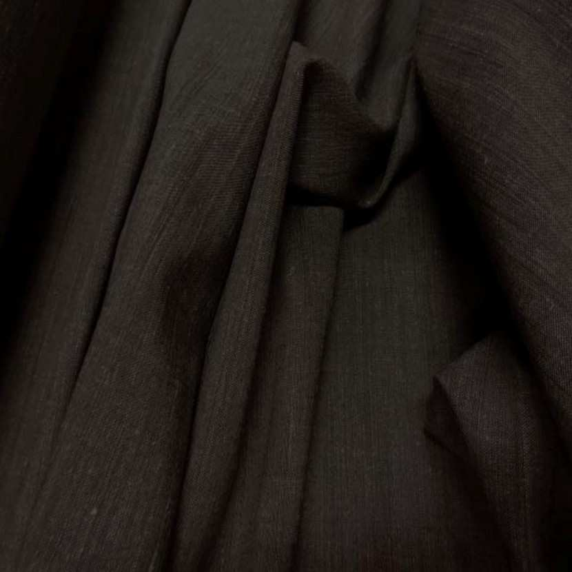 Polyester lin viscose marron5