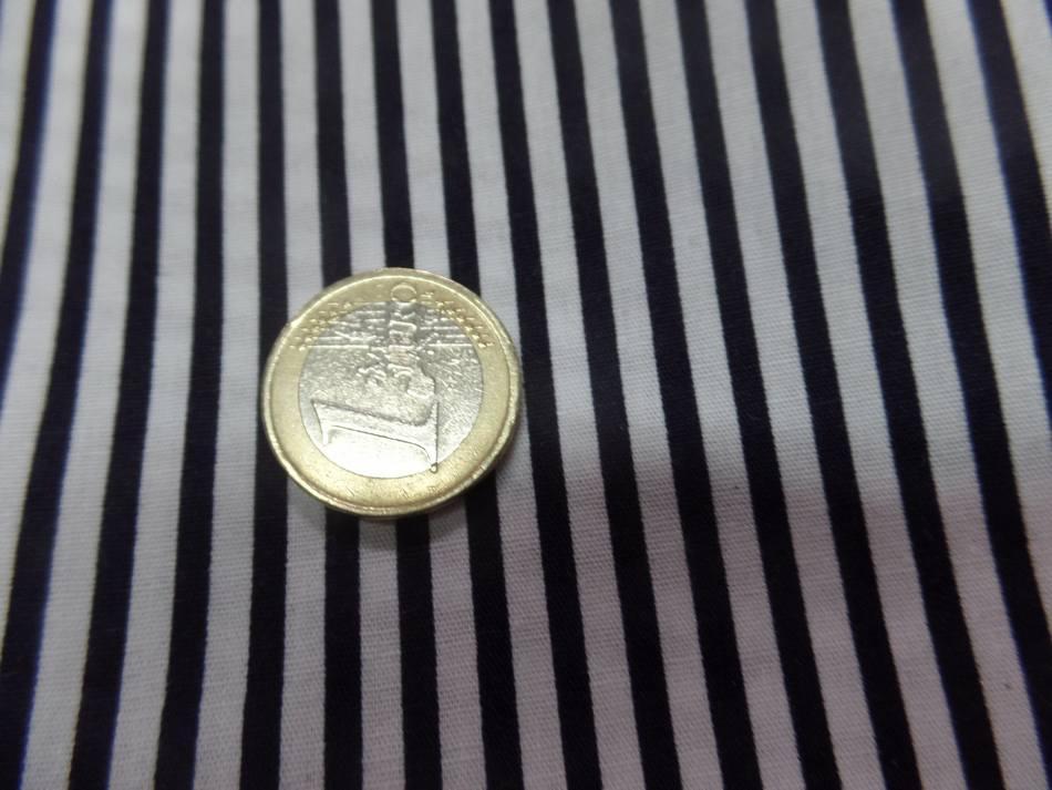 vente de popeline coton 100% blanche imprimé fine rayure noire