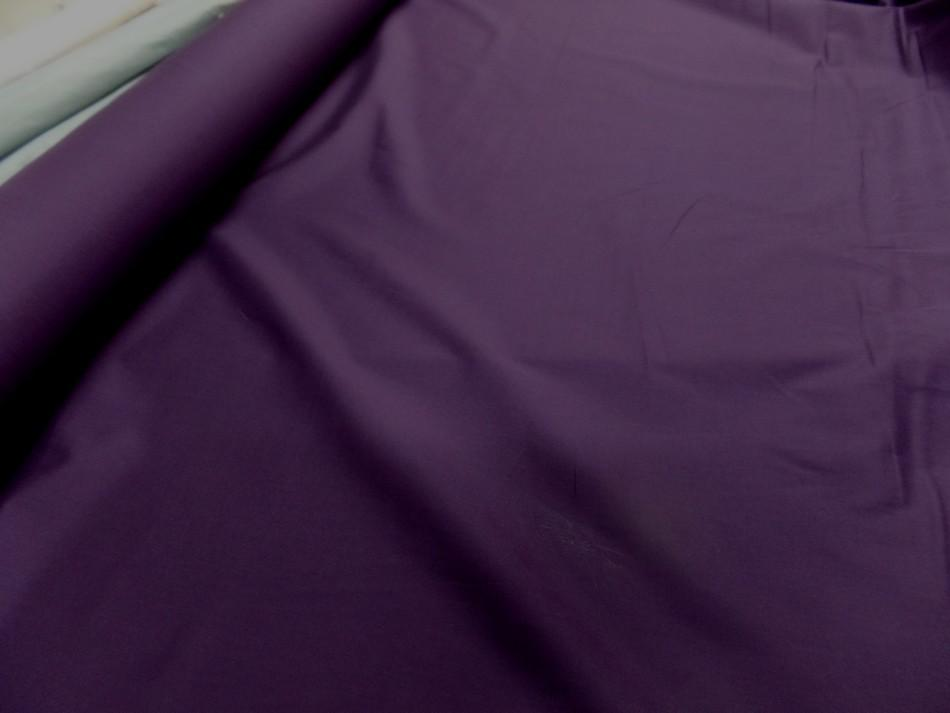 Popeline coton 100 ton violet