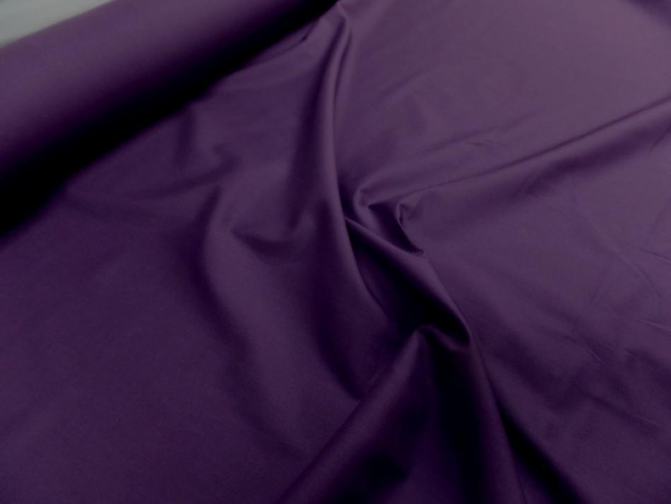 Popeline coton 100 % ton violet 120 fils