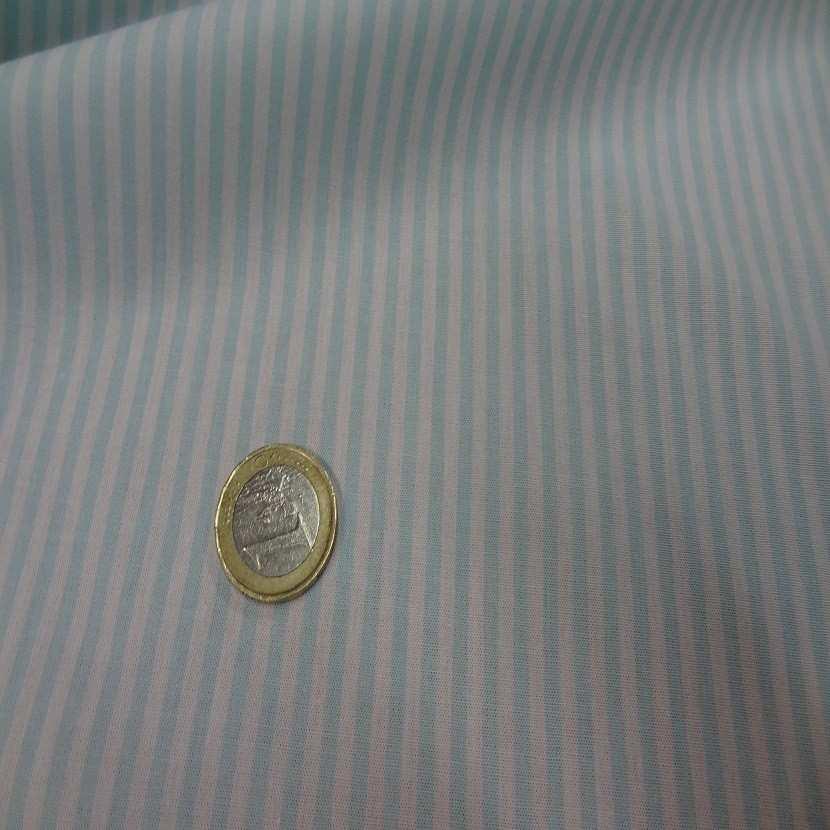 Popeline coton blanche raye bleu02