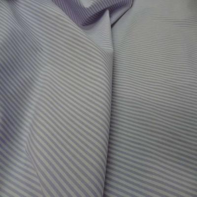 Popeline coton blanche raye mauve lavande1