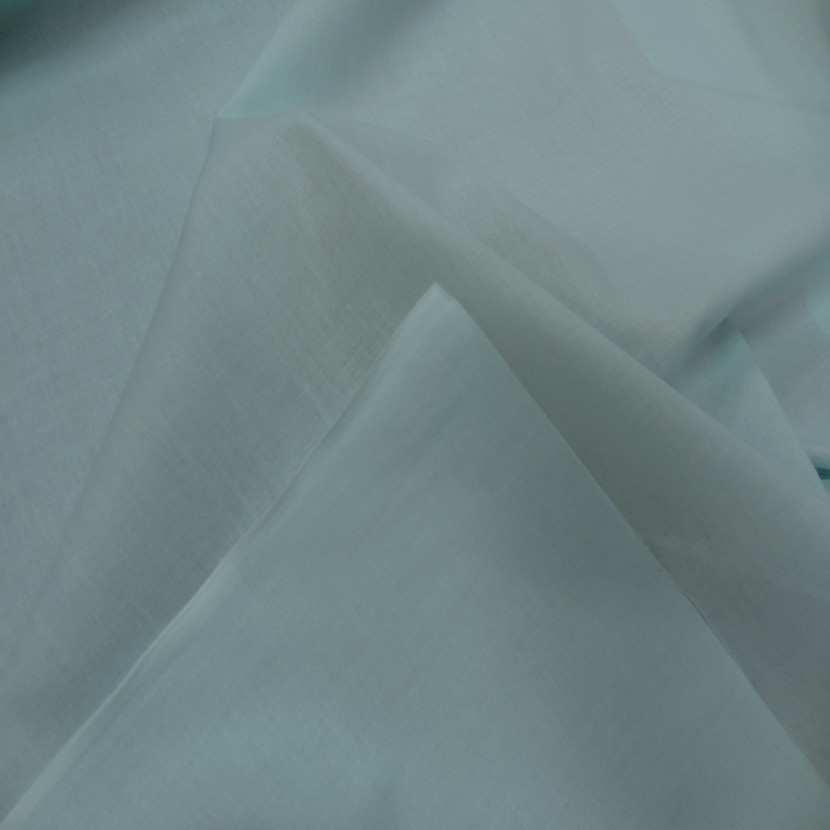 Popeline coton bleu lagon8