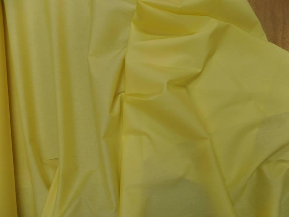 Popeline coton jaune0