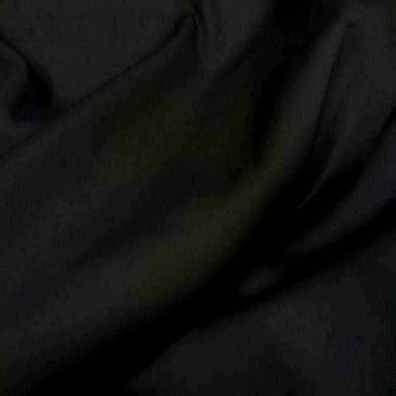 Popeline coton lycra noire