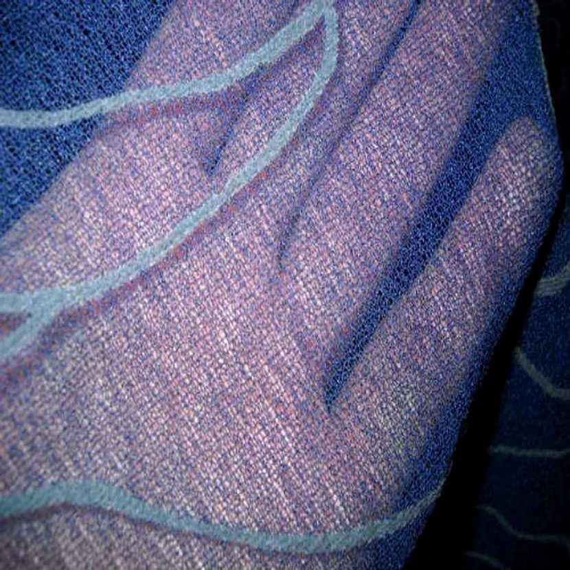 Resille aspect mousse bleu nuit imprime5