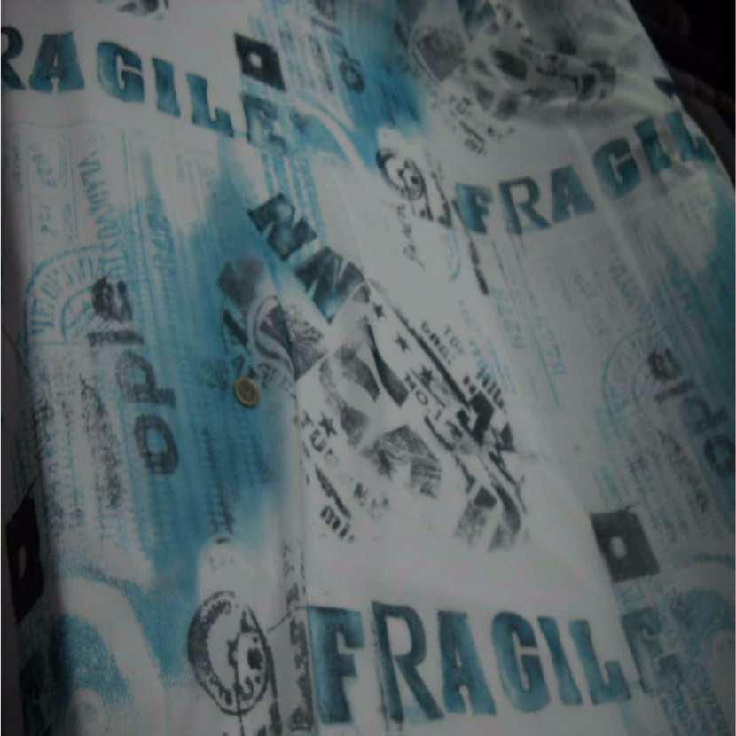 Resille blanche imprime bleu3