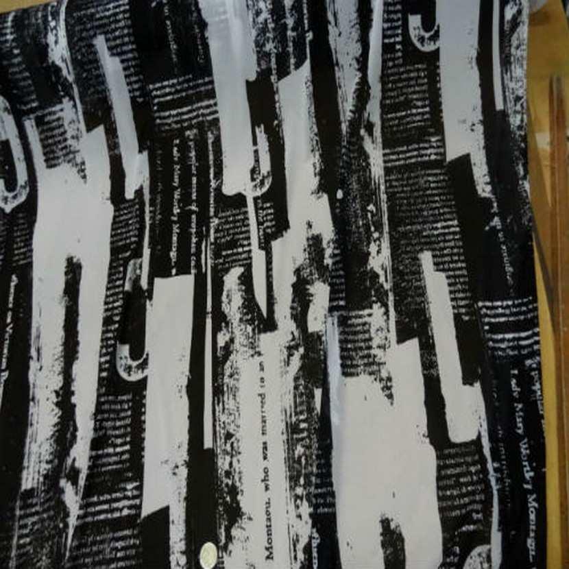 Resille blanche imprime noir1