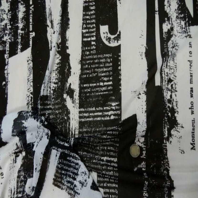 Resille blanche imprime noir5