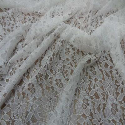 Resille dentelle lycra blanc casse