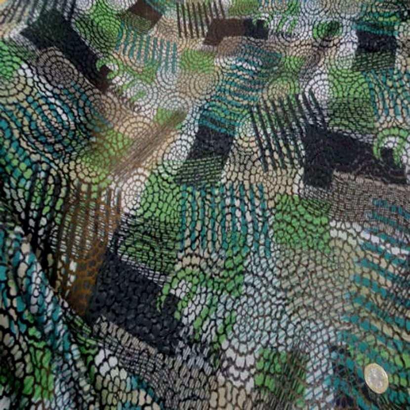Resille faconne aspect dentelle noir et vert0