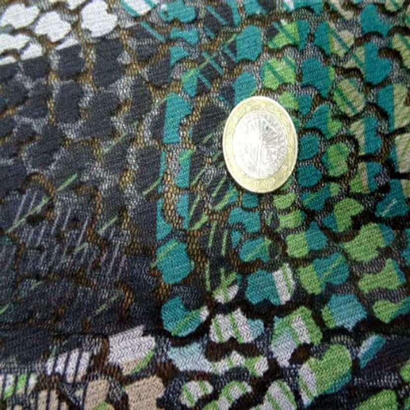 Resille faconne aspect dentelle noir et vert8