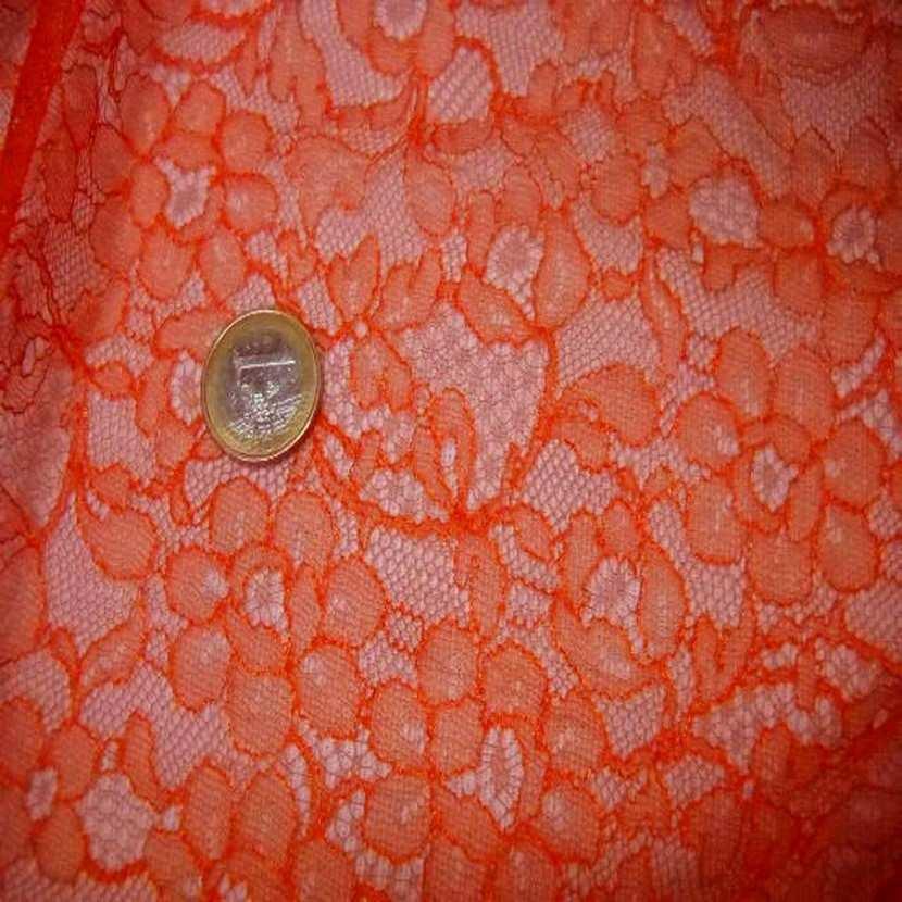 Resille faconne dentelle orange