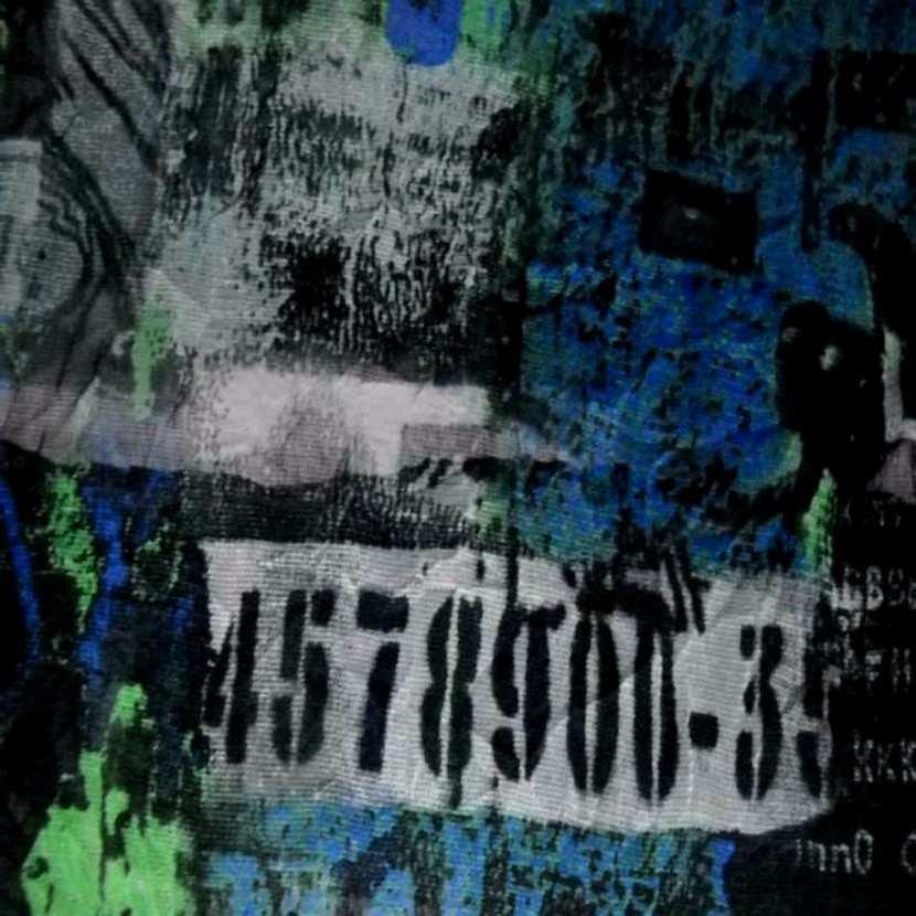 Resille froisse permanent imprime ton noir bleu vert