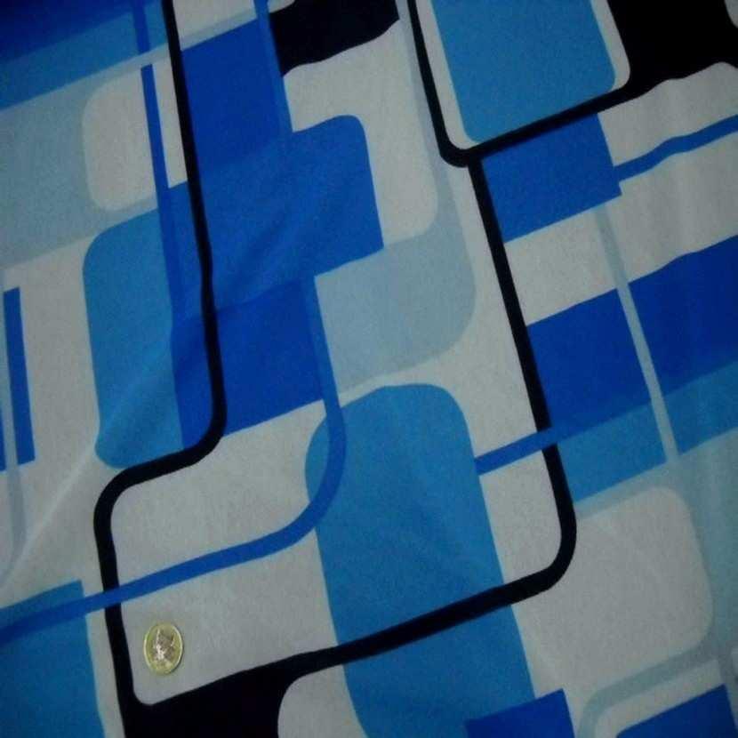 Resille imprime annee 70 ton bleu4
