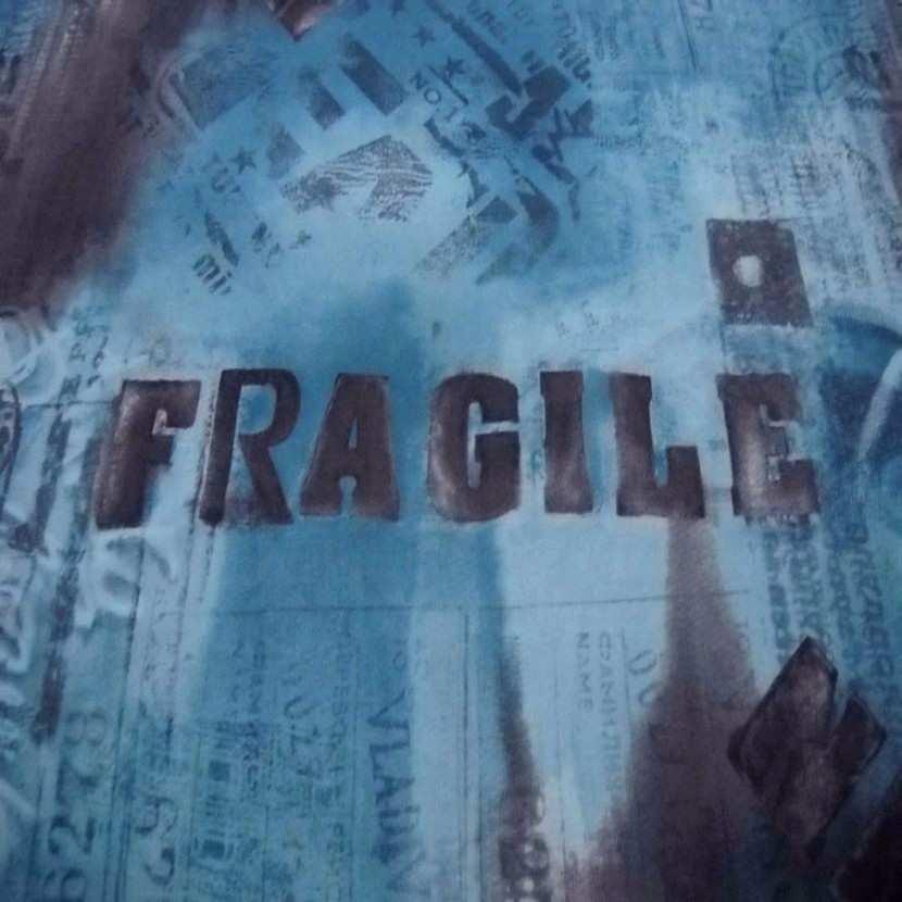 Resille imprime ton bleu fragile