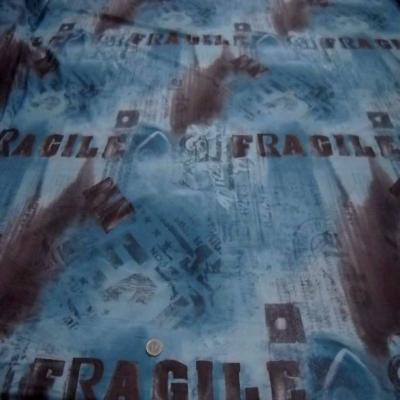 Resille imprime ton bleu fragile0