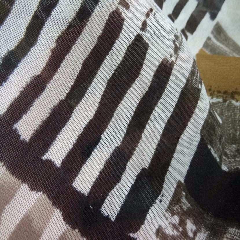 Resille imprime ton taupe marron beige7