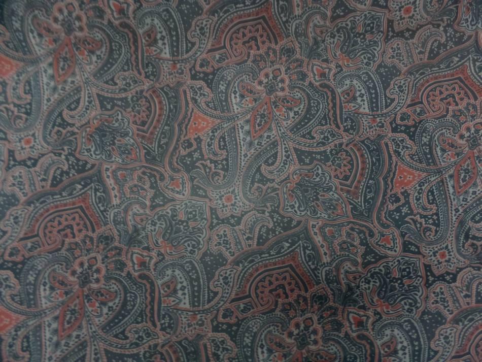 Resille lycra dans les 2 sens imprimegris fonce et rouge orange4