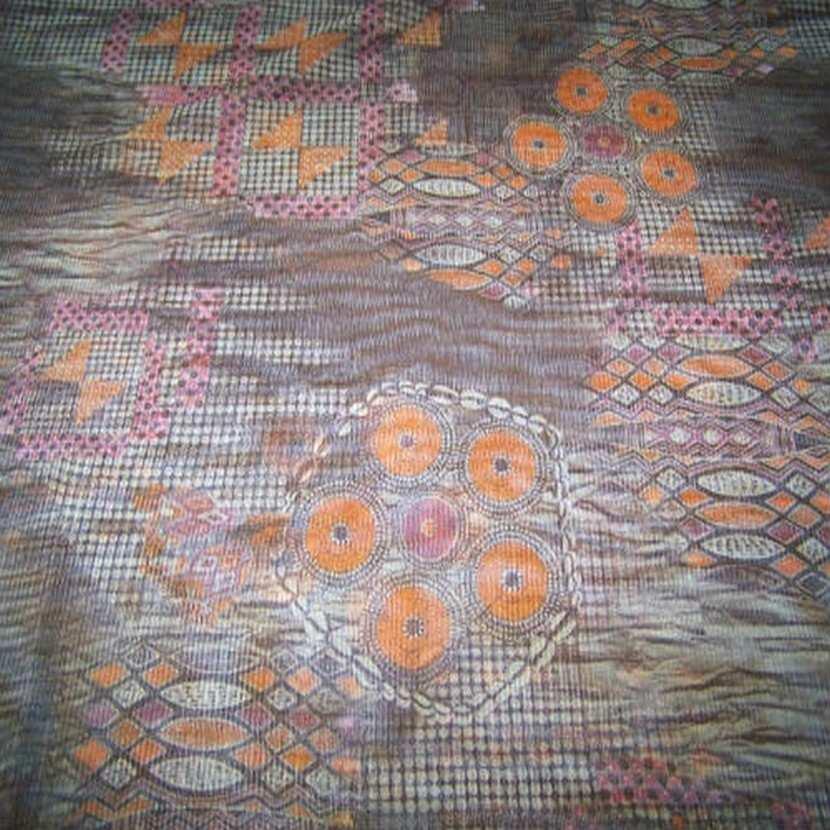 Resille marron imprime orange2