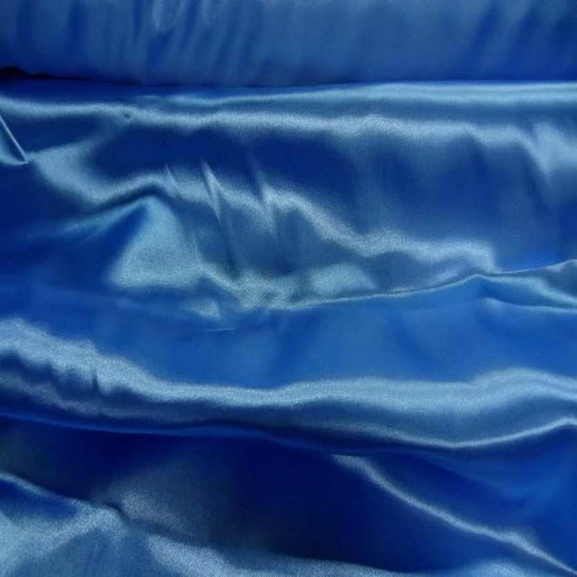 Satin bleu turquoise en 1 50m de large0