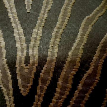 tissu satin d ameublement façonné kaki doré