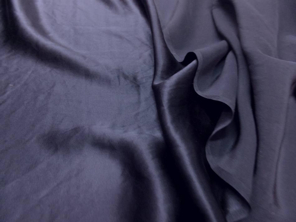 Satin de soie bleu nuit en 1 37 m de large pas cher