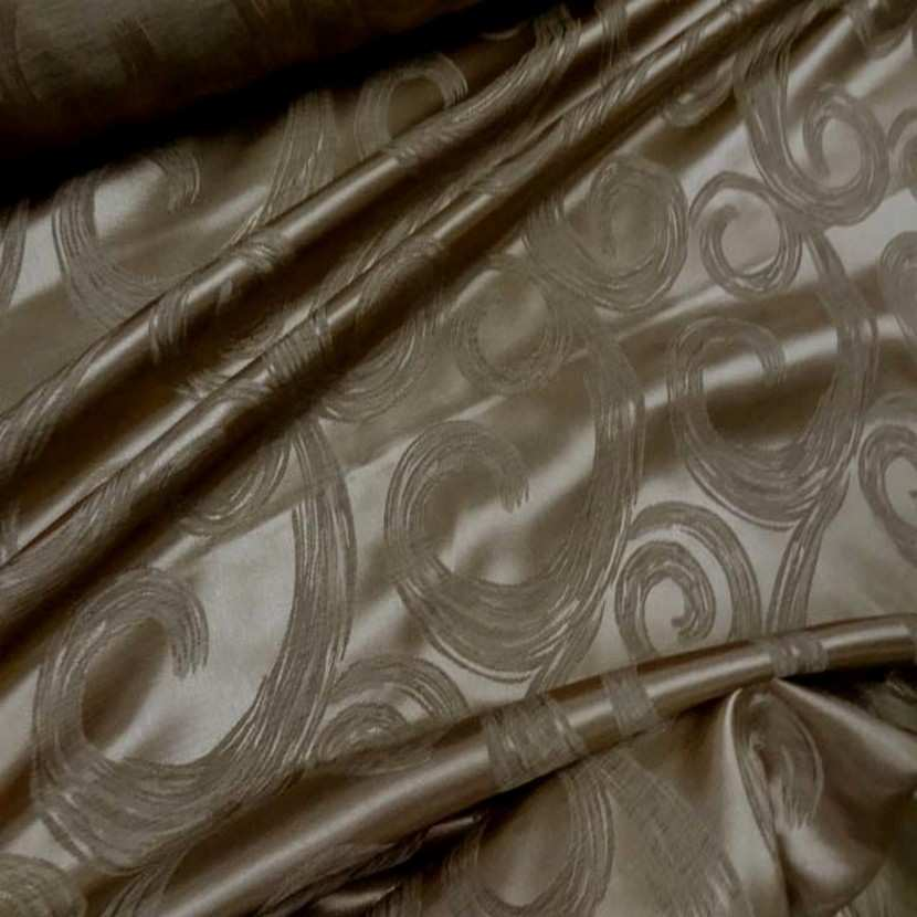 Satin faconne double face dore taupe