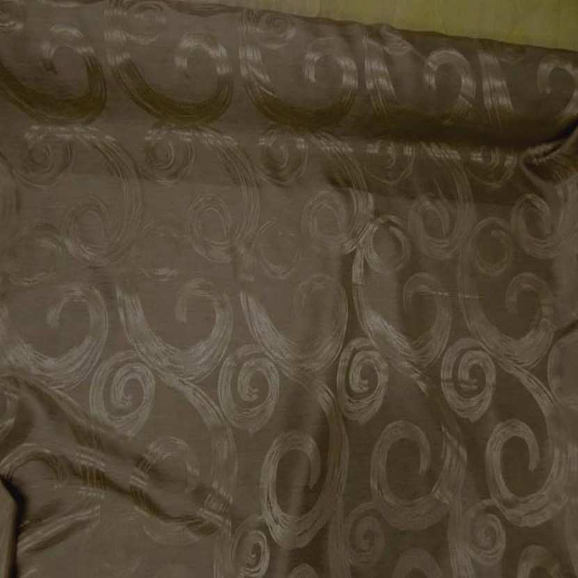 Satin faconne double face dore taupe4