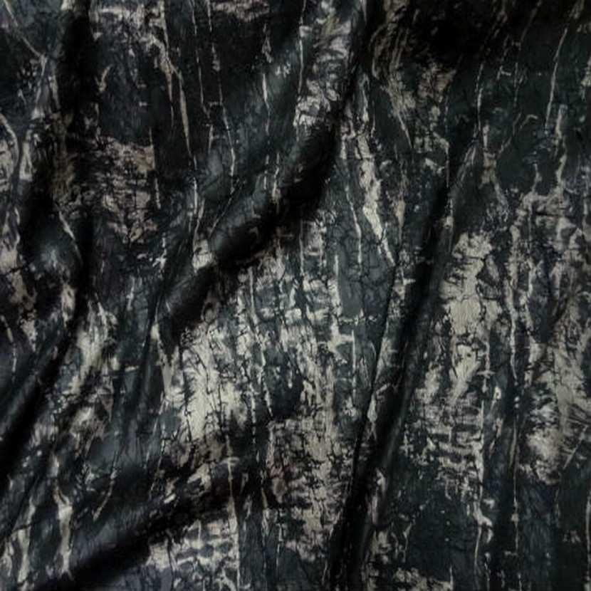 Satin froisse permanent imprime noir marron4