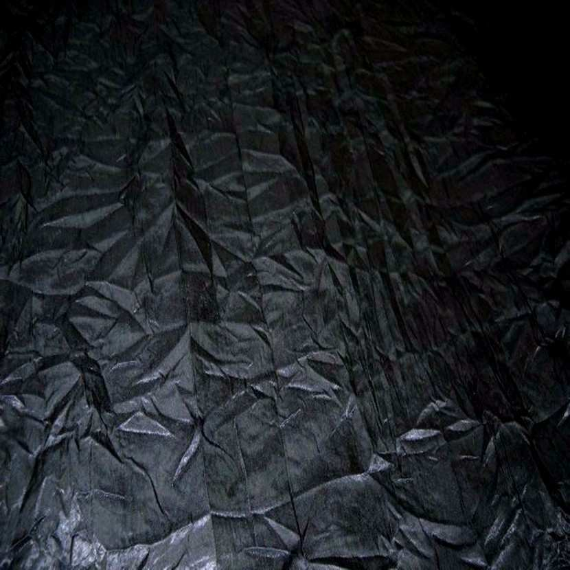 Satin froisse permanent noir 05