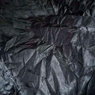 Satin froisse permanent noir
