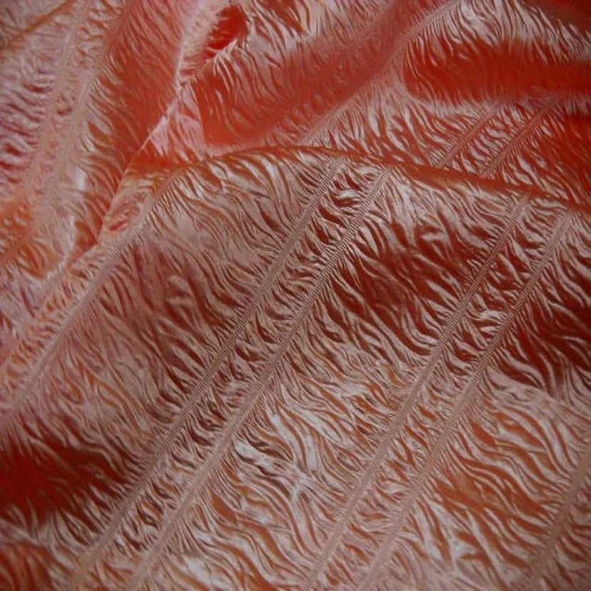 Satin fronce changeant ton orange