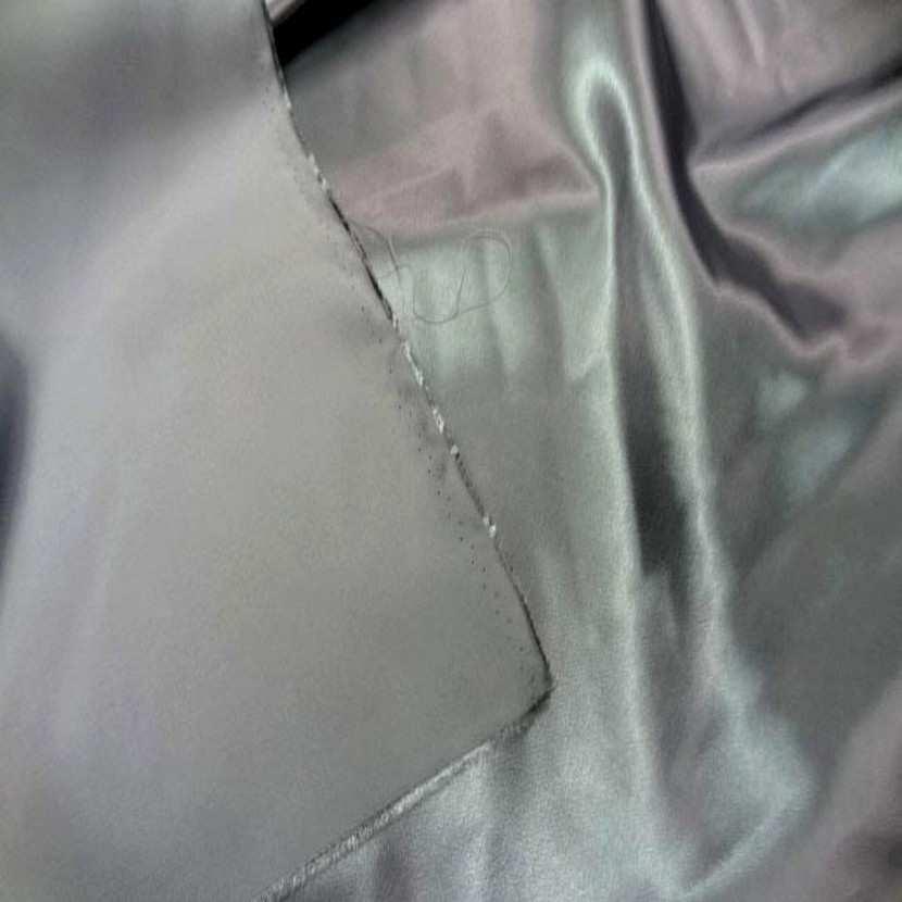 Satin gris metal en polyester5