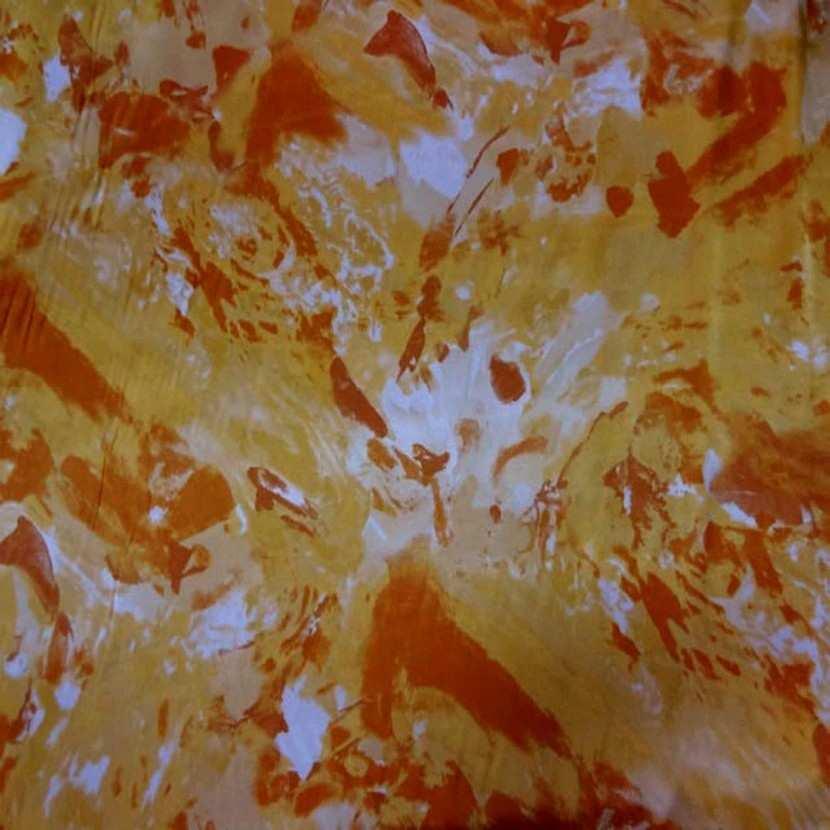 Satin lycra imprime ton orange2