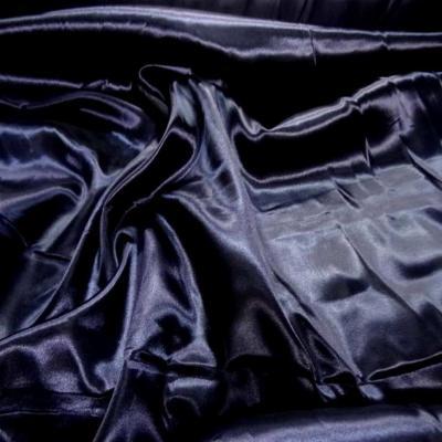 Satin polyester bleu nuit