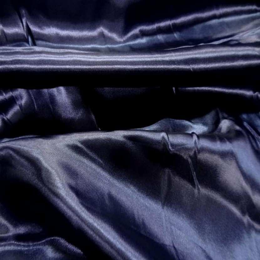 Satin polyester bleu nuit9