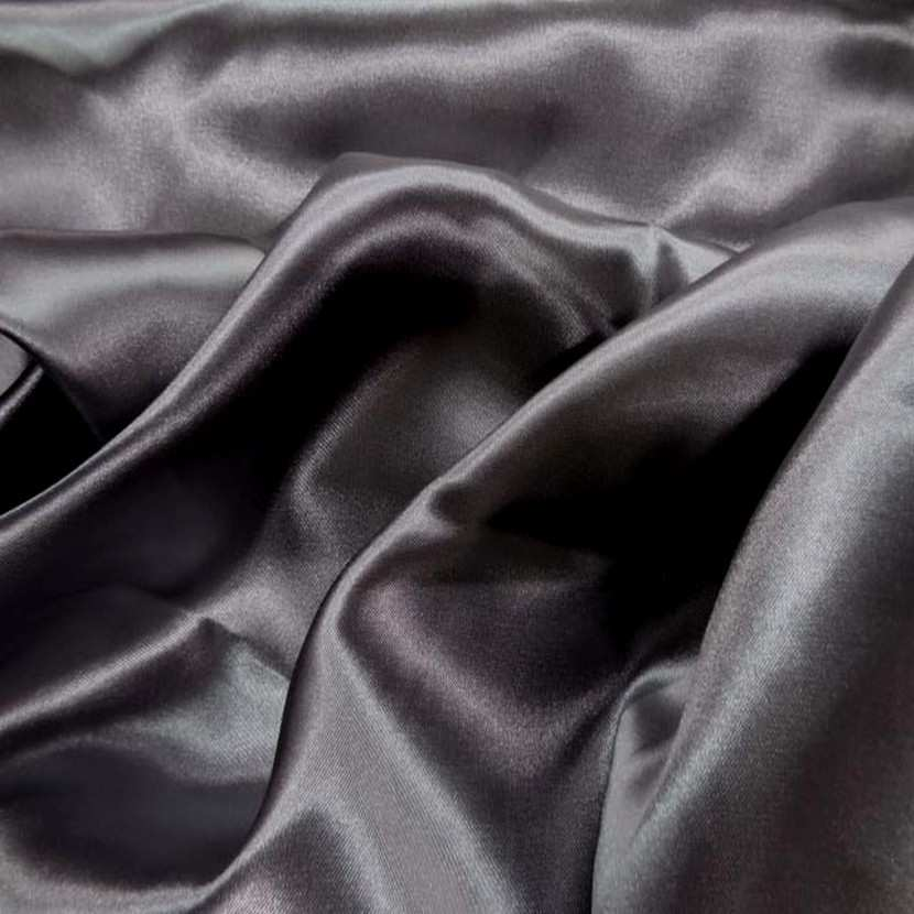 Satin polyester gris fonce6