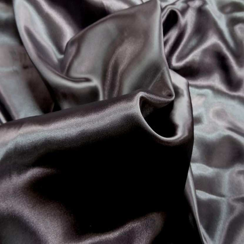 Satin polyester gris fonce7