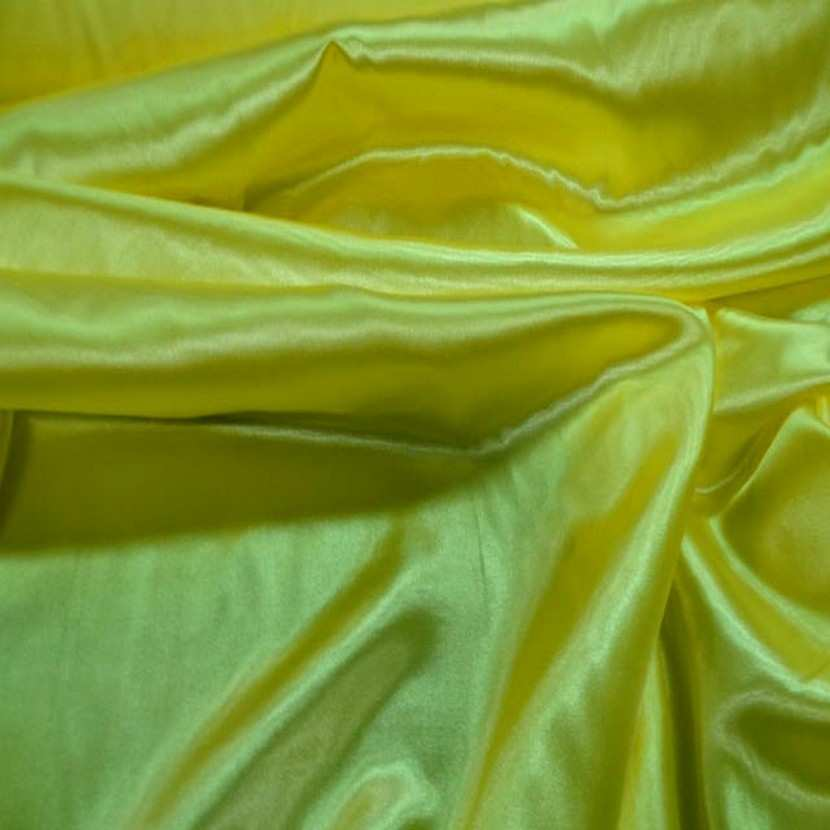 Satin polyester jaune2