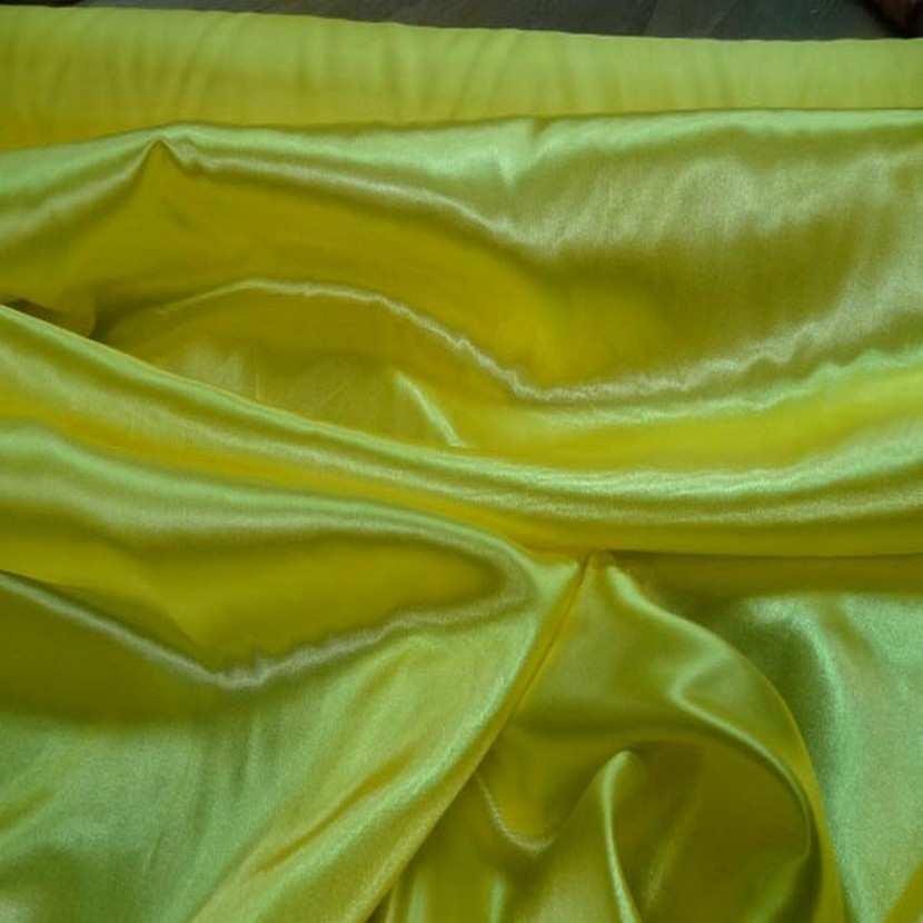 Satin polyester jaune3