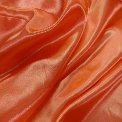 Satin polyester orange