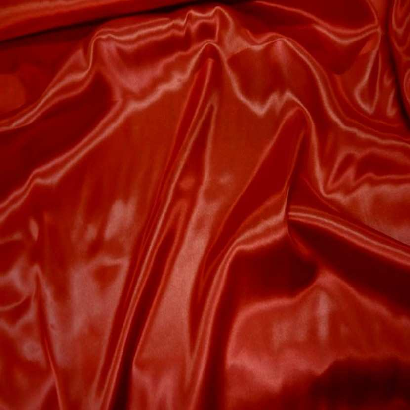 Satin polyester rouge7