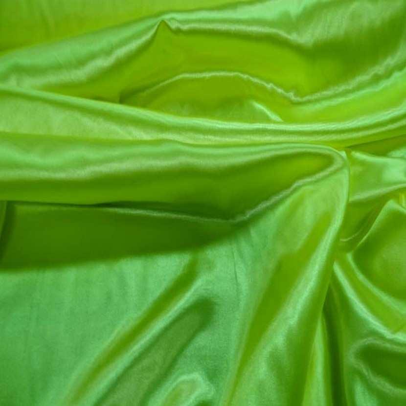 Satin polyester vert anis en 1 50m de large3